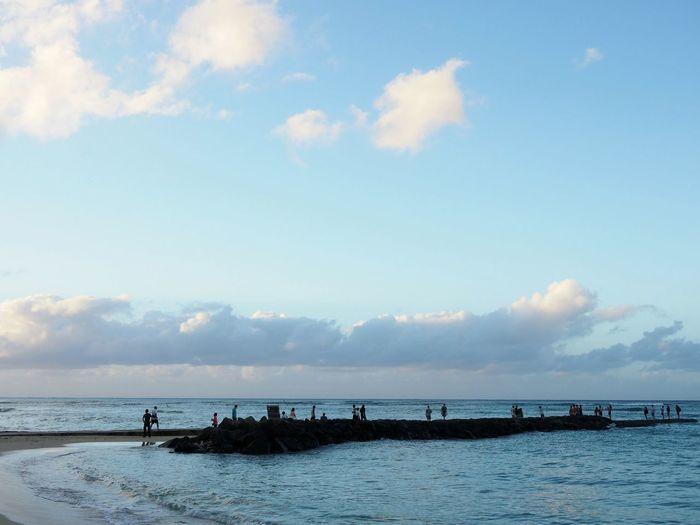 Cloud - Sky Sea Beach Sky Scenics Blue Outdoors Horizon Over Water Em1markii Hawaii Hawaiian Beauty Olympus Photography Olympus Travel Destinations Waikiki Waikiki Beach