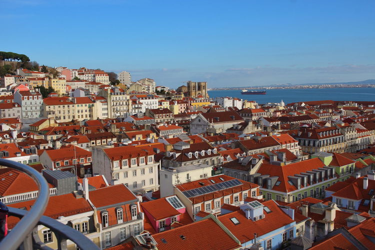 View Lisabon Lisboa Portugal Lisbon - Portugal Lissabon, Portugal Architecture Building Exterior Built Structure City Building Residential District Roof Cityscape Sky High Angle View Nature Crowd Crowded House Day Town Clear Sky Outdoors Sunlight TOWNSCAPE Roof Tile
