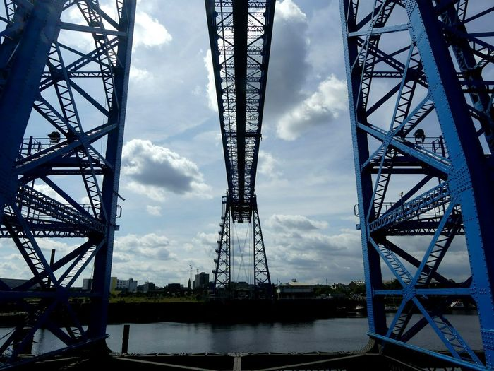 Metal Tower Girder Built Structure Sky Connection Steel Bridge - Man Made Structure Cloud - Sky No People Outdoors Travel Destinations City Architecture Water Day Transporter Bridge Teeside Car Transporter Bridge Middlesbrough EyeEmNewHere