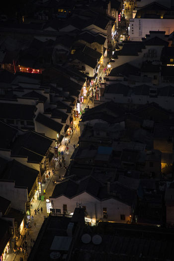 Tai Ping Street Architecture Building Exterior Built Structure City High Angle View Illuminated Large Group Of People Night Outdoors Religion Spirituality Travel Destinations