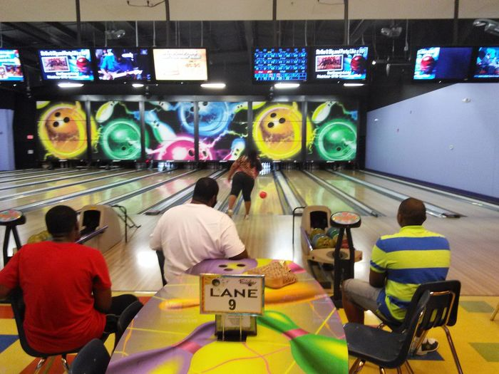 Bowling Bowling Alley Sports Hobby Bowlingnight Bowling Time Indoors  Technology Multi Colored Real People