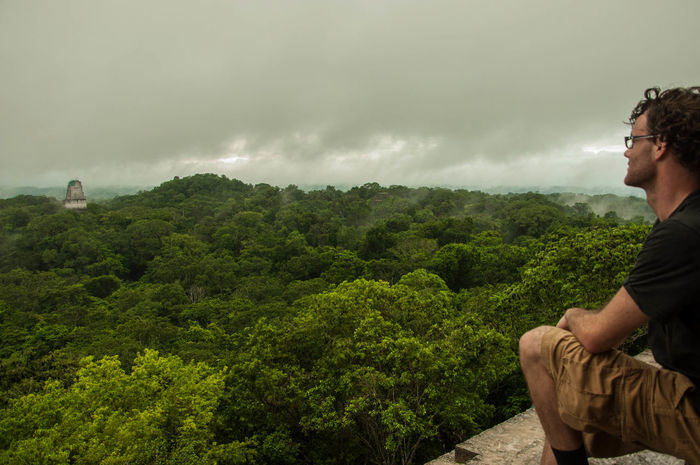 Beauty In Nature Cloud Countryside Guatemala Horizon Over Land Idyllic Landscape Lush Foliage Maya Nature Non-urban Scene Outdoors Pyramid Rainforest Scenics Sky Tranquil Scene Tranquility Tree Travel Tikal Qi Q