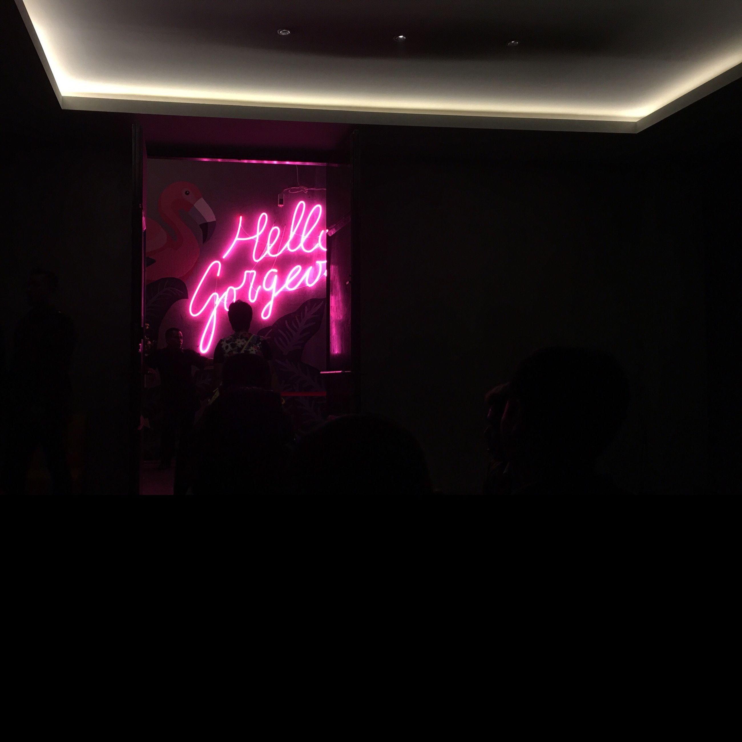 illuminated, lighting equipment, silhouette, hanging, indoors, neon, decoration, night, dark, electric light, light, hanging light, nightlife, event, decorated, darkroom