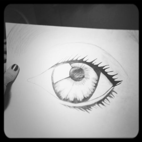 My Drawing #old #eye