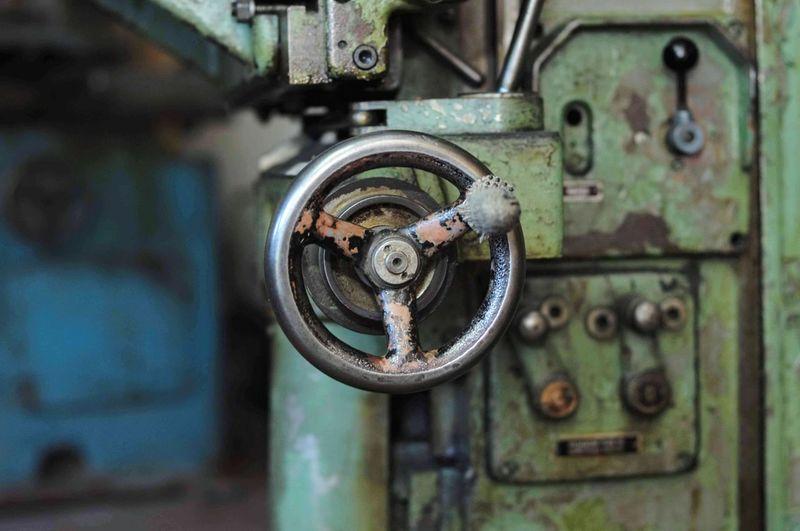 Close-up of machine part