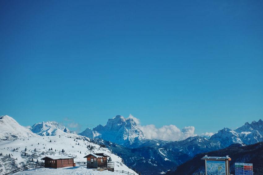 Italian Dolomites in Winter , Alta Badia, Colfosco Alta Badia Blue Sky Cold Colfosco Day Eaurope Freezing Idyllic Italy Leisure Mountain Mountains Nature Outdoors Powder Ski Lift Skiing Snow Snowboarding Tranquility Travel Travel Destinations White Color Winter
