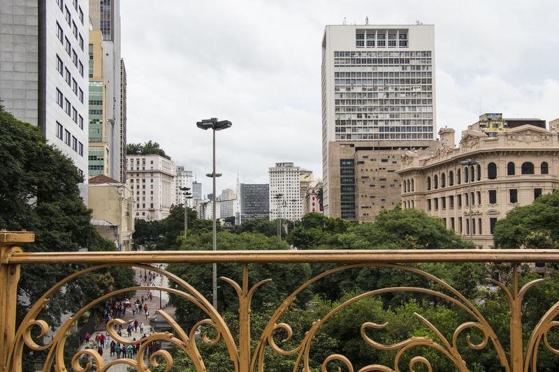 Architecture City City Life São Paulo Vale Do Anhangabau Vanishing Point