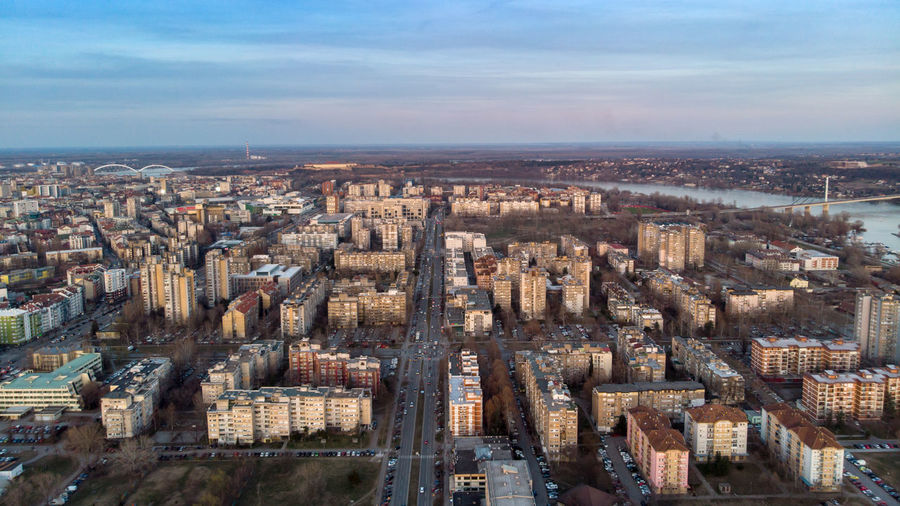 Architecture City Building Exterior Cityscape Built Structure Aerial View Building High Angle View Sky Travel Destinations Nature No People Residential District City Life Cloud - Sky Urban Skyline Skyscraper Office Building Exterior Outdoors Modern Novisad