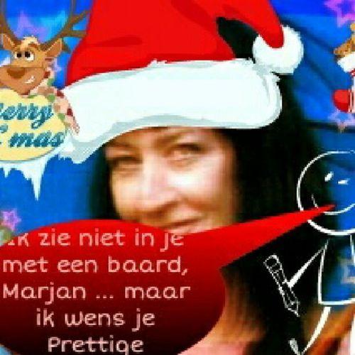 Ik zie niet in je met een baard, Marjan ... maar ik wens je Prettige Kerstdagen