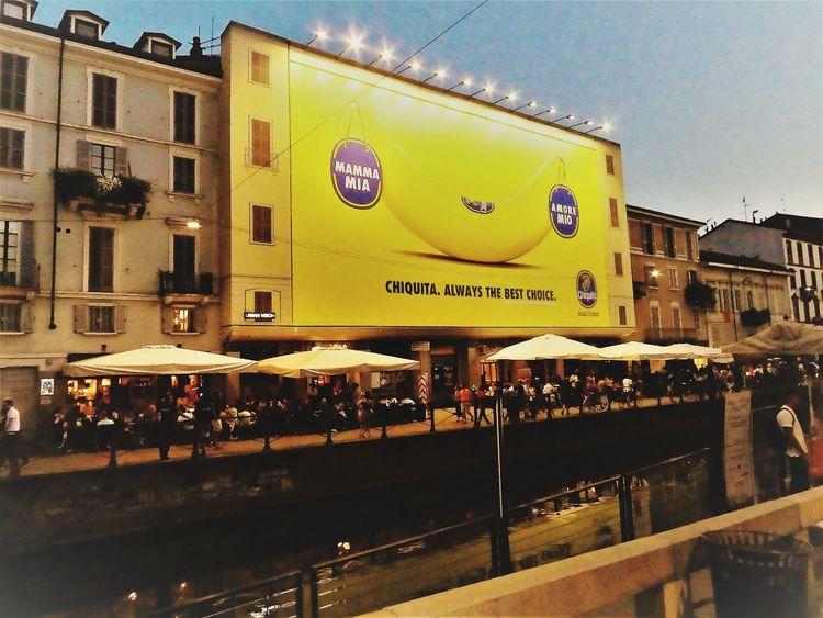 Navigli Milani City Illuminated Sky Architecture Building Exterior Built Structure Road Sign