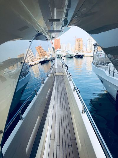 Arabian Moment Water Architecture Transportation Built Structure Nature Day Building Exterior Nautical Vessel Sea City Outdoors Office Building Exterior Tall - High Mode Of Transportation No People Modern Skyscraper Reflection Building Sunlight