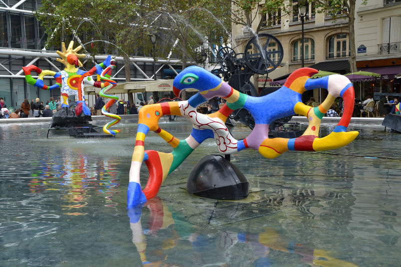 Stravinsky Fountain in Paris, France Art Cityscape Colorful Culture Enjoyment Europe Figure Fountain France Fun Landmark Landscape Monument Multi Colored Outdoors Paris Picturesque Sculpture Sightseeing Statue Stravinsky StravinskyFontaine Touristic Travel Water