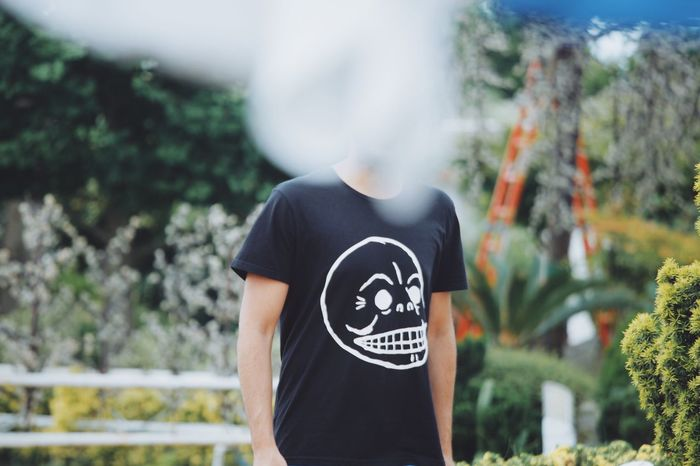 One Person Focus On Foreground Outdoors No Face Day Standing Blurry Face Real People Sunlight Shomal North Of Iran Caspian Sea Nature Man In Black Open Edit Skull Skull T Shirts Boy