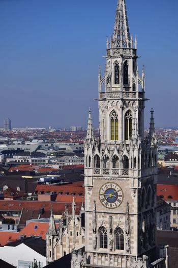 Architecture Bell Tower - Tower Clock Tower Europe Trip Germany Glockenspiel Marienplatz Munich My Best Photo 2015 My Travelogue Travel Destinations