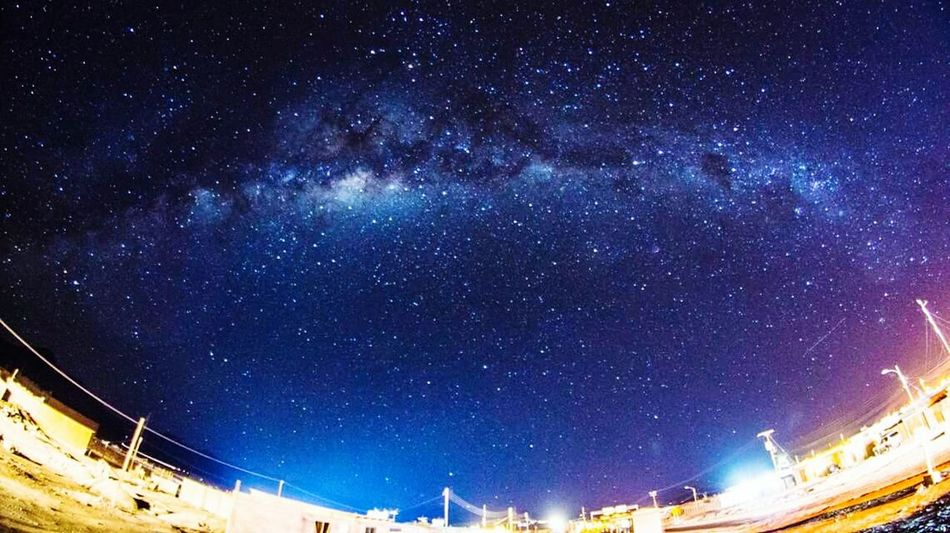Wonder Amazing View Chile Atacama Desert Starry Sky Milky Way Galaxy Stargazing Light Sky Outdoors Illuminated Dark Coulour Of Life