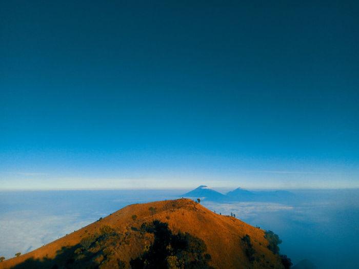 Top of the mountain, and there's another twin mountain on silhouette. First Eyeem Photo Scenery Wonderful Indonesia Cloud - Sky Blue Mountain Peak Jogja Yogyakarta INDONESIA Merbabu Mountain Merbabu Scenics - Nature Sky Mountain