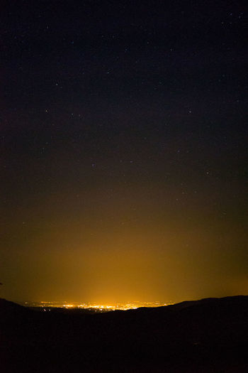 Astronomy Beauty In Nature Galaxy Landscape Lightpollution Nature Night No People Outdoors Scenics Silhouette Sky Space Star - Space Starry Sunset Tranquil Scene Tranquility