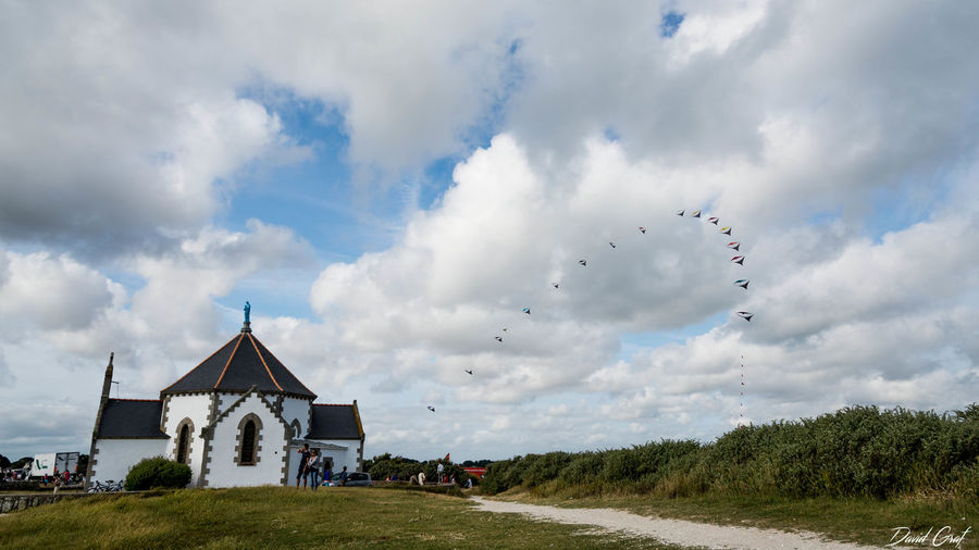 Bretagne Cerf Volant Clouds France Holiday Kite Landscape Penvins