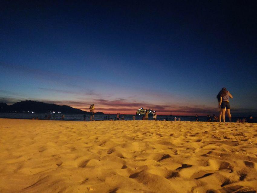 Shades Of Sky Sand & Sea Travel Destinations Sunset Sky Beach Sand Seascape Photography Landscape Shades Of Nature Beauty Of Nature Twilightscapes Twilight Sky Phuket Thailand Phuket