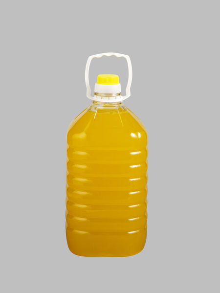 bottle of orange juice Container Drinks Food And Drink Isolated Juice Liquid Bottle Bulk Clipping Path Cut Out Full Frame Gray Background No People Orange Juice  Plastic Studio Shot Yellow