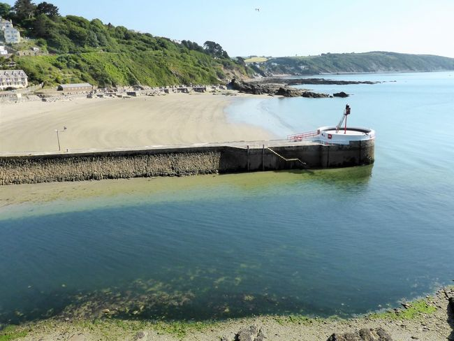 Beautiful Cornwall Green Holiday Bay Beauty In Nature Clear Sky Cornwall Day Fishing Leisure Activity Looe Men Mountain Nature One Person Outdoors People Real People Scenics Sea Sky Summer Tourism Tranquility Uk Water