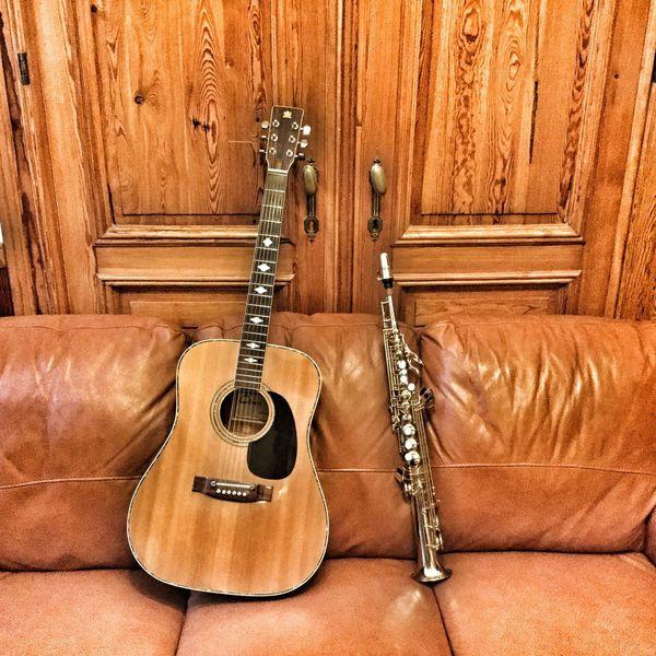 Guitar Saxophone Couple Duo Sax Acoustic