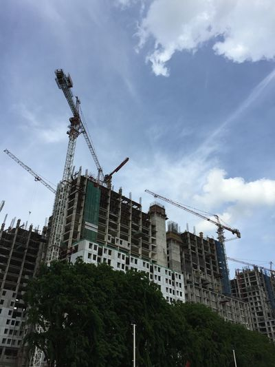 Building Exterior Architecture Built Structure Sky Development City Low Angle View Construction Site Cloud - Sky No People Outdoors Day Improvement Skyscraper Nature EyeEmNewHere