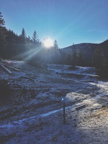 Blue Sky Cold Ice On A Hike Gapa1516