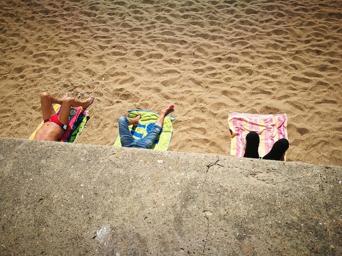 Sand Outdoors Beach Day People Close-up Low Section The first sun The Street Photographer - 2017 EyeEm Awards