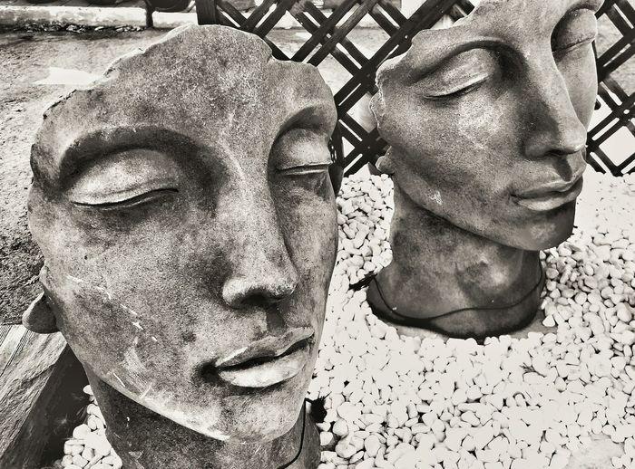 Close-up portrait of statue