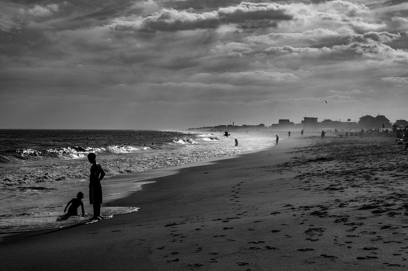 One day he said to his little brother, your gonna be big too just like me... Photographyisthemuse Sea Water Beach Land Sky Horizon Over Water Horizon Real People Scenics - Nature Sand Outdoors Day Leisure Activity Beauty In Nature