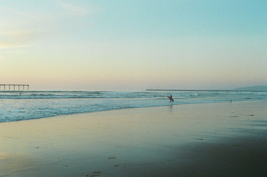 Beach California Calm Coastline Film Photography Filmisnotdead Horizon Over Water Leisure Activity Lifestyles Livefolk Los Angeles, California Non-urban Scene Outdoors Pacific Ocean Remote Scenics Sea Shore Sunset Surf Tranquil Scene Tranquility Vacations Water