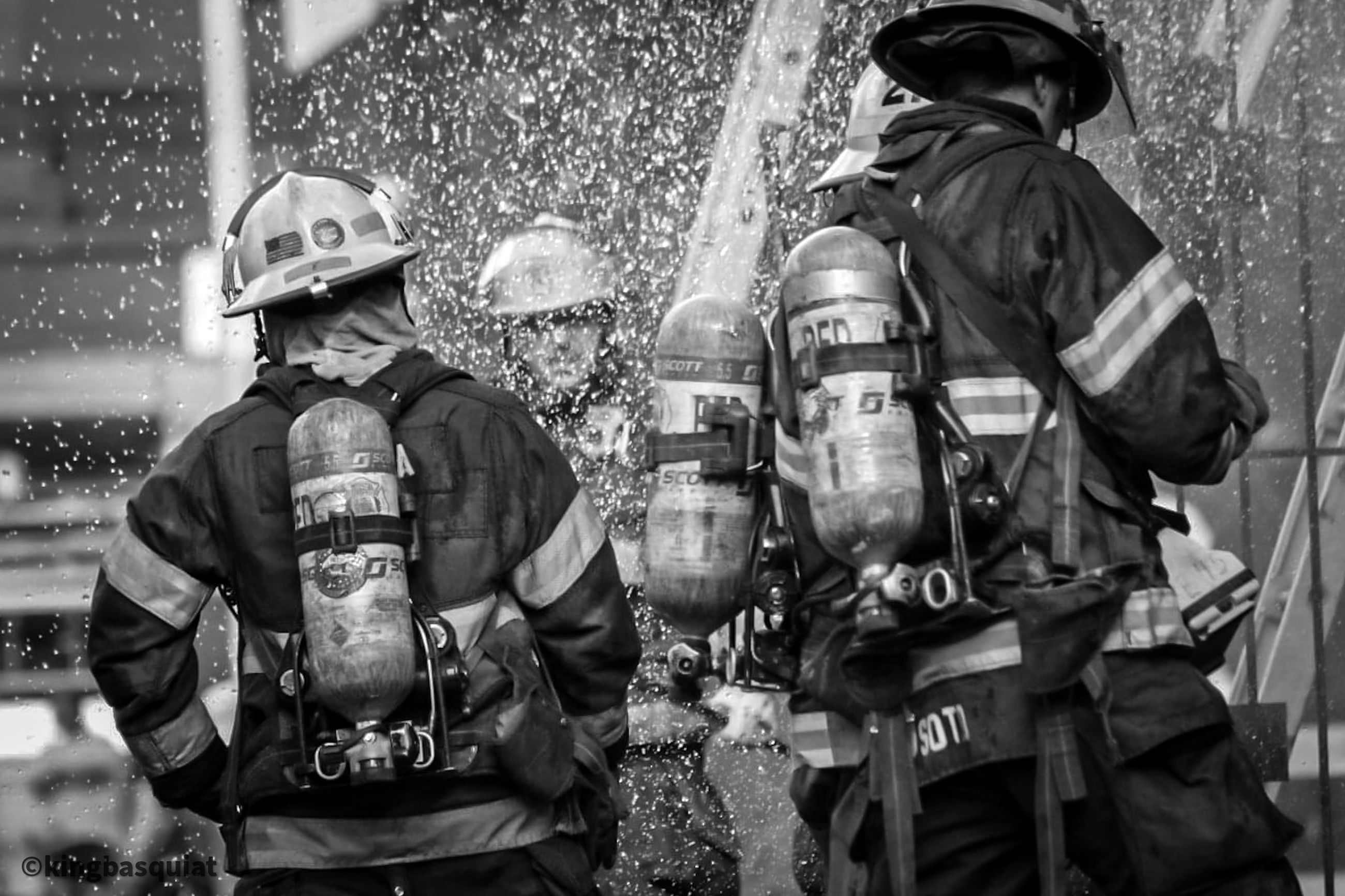 person, uniform, government, clothing, firefighter, protection, men, black and white, headwear, security, helmet, group of people, accidents and disasters, adult, monochrome, occupation, soldier, troop, emergency services occupation, courage, day, work helmet, military, protective workwear, police force, police, armed forces, law, outdoors