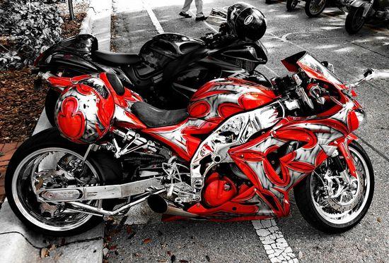 Streetbike Colorsplash Red Eye4photography  eye