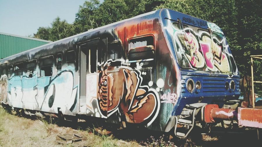 Beautiful Decay Train Graffiti
