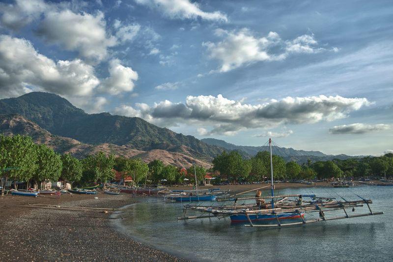 Boats Bali Water Mountain Cloud - Sky Sky Nautical Vessel Nature Sea Beach