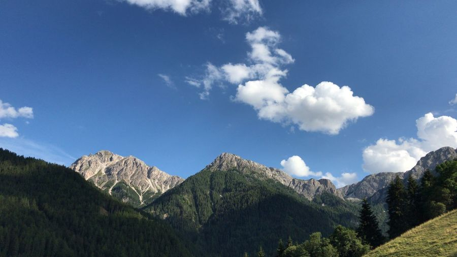 Apls Alps Italy Sky Cloud - Sky Plant Beauty In Nature Tree Scenics - Nature Tranquil Scene Tranquility Mountain No People Low Angle View Landscape Outdoors Sunlight Environment Non-urban Scene Nature Day Growth Blue