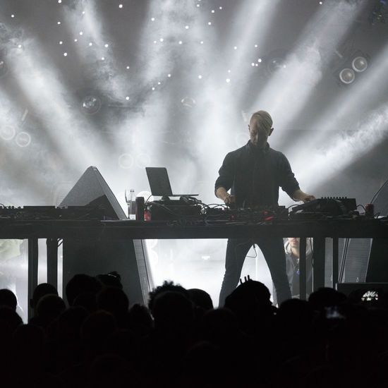 Arts Culture And Entertainment Concert Photography Dalhalla Dj Electronic Music Illuminated Into The Valley Large Group Of People Light And Shadow Music Festival Night Richie Hawtin Showcase: December Electronic Music Shots Human Meets Technology