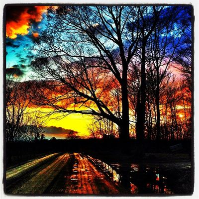 Sunset before storm. #miltonvt #btv #vt Sunset Landscape Scenery Silhouette Vermont Milton Vt Btv Vt_scenery 802 Milton_vt Miltonvt Backroad