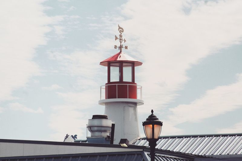 EyeEm Selects Beachtime FunInTheSun☀️ Photooftheday Photography Daylight Lighthouse Building Exterior Sea Harbor Red No People Nautical Equipment