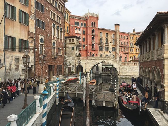 Japanese  Disney DisneySea DisneyWorld Mediterranean  Mediterranean Harbor Italy Venezia Built Structure Building Exterior