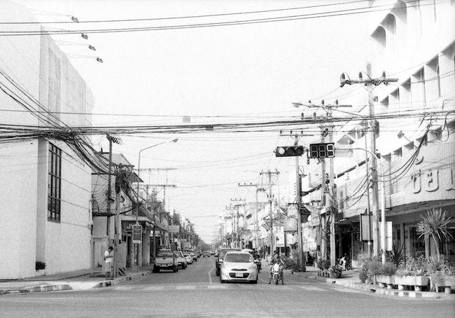 Cable Power Line  City Outdoors Blackandwhite Film Black & White Road City Life Monochrome Film Photography Blackandwhitephotography Filmcamera Filmisnotdead Filmphotography Traffic Traffic Signs Telephone Line Filmcamera Filmphotography B&W Magic