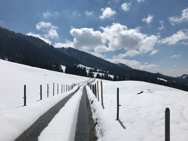 Betterlandscapes EyeEm Selects Allgäuer Alpen Snow Winter Nature Outdoors Landscape Tranquility Tranquil Scene Mountain No People Alps Germany The Road To Nowhere
