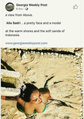 #indonesianwoman #news #Georgia #swimsuit #bikini #Shower #bluebeach #Indonesia #Bali #beach Text Vacations Adult Day Outdoors People Only Women One Person Adults Only Young Adult One Woman Only