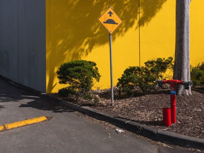Preston, Victoria 2017 Road Sign Road Safety Communication Yellow Street Guidance Outdoors Day No People Built Structure Architecture Building Exterior Traffic Cone Sky