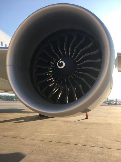 Huge GE90 engine