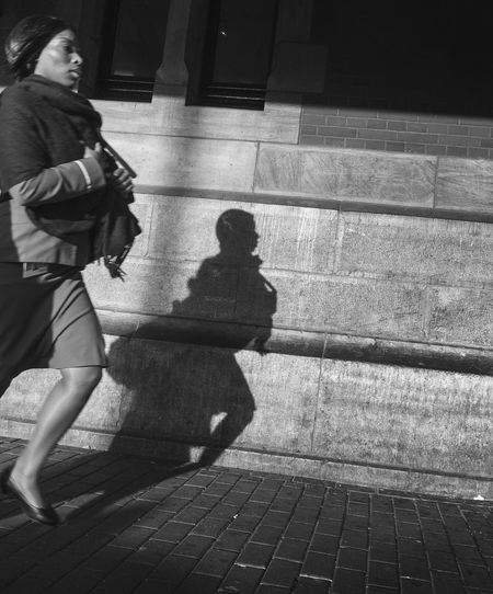 Under Pressure Black_white In A Hurry  Street Street Photography Woman The Human Condition Creative Light And Shadow