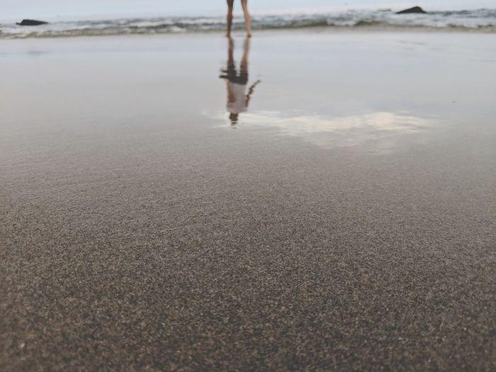 Travel Beach Peru Low Section Beach Water Human Leg Reflection Men Sandy Beach