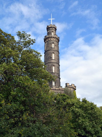 Nelson's Monument Architecture Built Structure Cloud No People Outdoors Tall Tower Tranquility