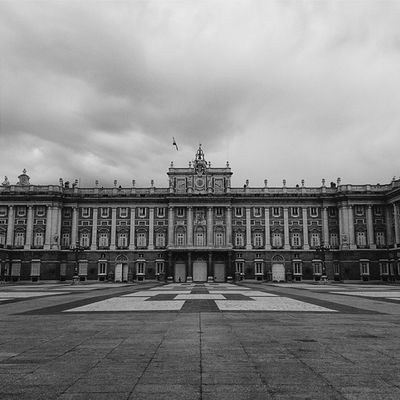 Palacio Real de Madrid. Frontal. CaminandoMadrid